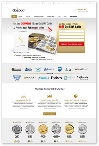 Goldco Precious Metals Website