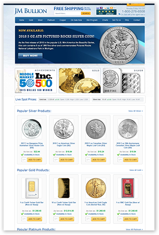 JM Bullion Website